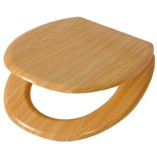 Oak Effect Toilet Seat